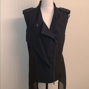 Kenneth Cole Jackets & Coats - Kenneth Cole Full Double Zip Vest With Sheer Back